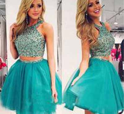 Green Chiffon Prom Dresses,Chiffon Backless Open Back Halter Sleeveless Prom Gown PM906