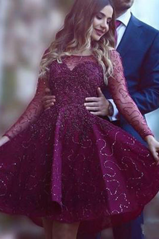 125d385c0 Wine Red Prom Dresses,Beading Prom Gowns,Cute Party Dress,Short Prom Dress