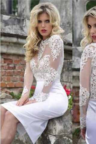 Homecoming Dress,Lace Homecoming Dress,Cute Homecoming Dress,White Short Prom Dress PM913