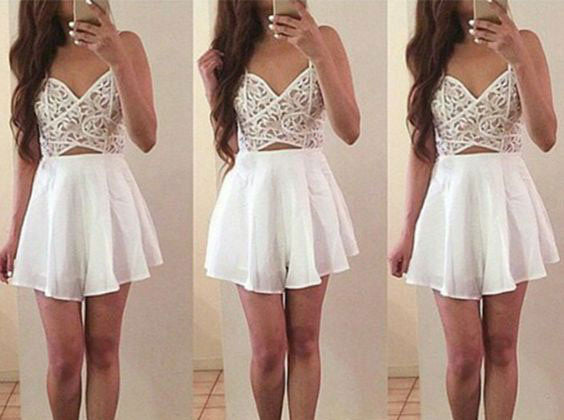 New Arrival Cute Homecoming Dress,Chiffon Short Prom Dress PM443