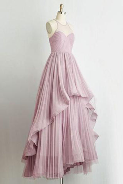 Pd61136 Charming Prom Dress,Chiffon Prom Dress,A-Line Prom Dress,Pleat Evening Dresses uk