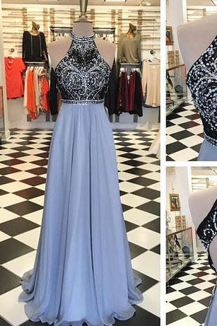 New Arrival Prom Dress,Backless Prom Dresses,2017 Sexy Halter Prom ...