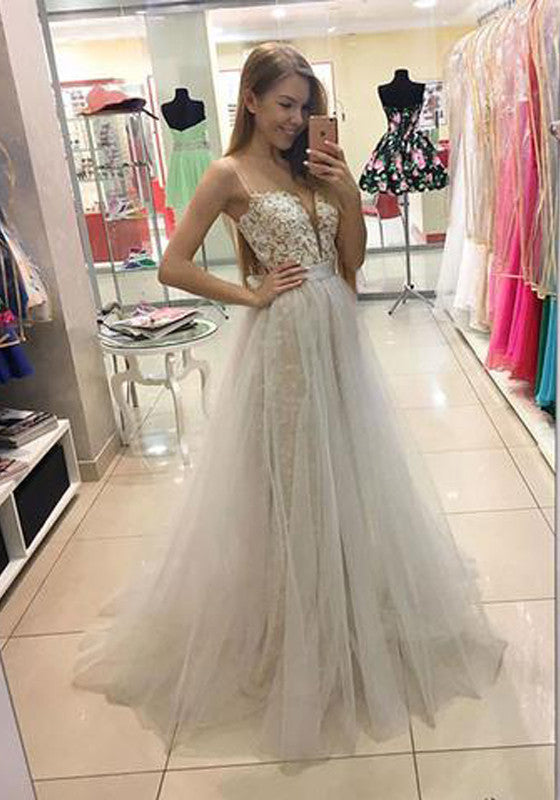 High Fashion A-Line Sweetheart White Lace Long Prom/Evening Dress PM418