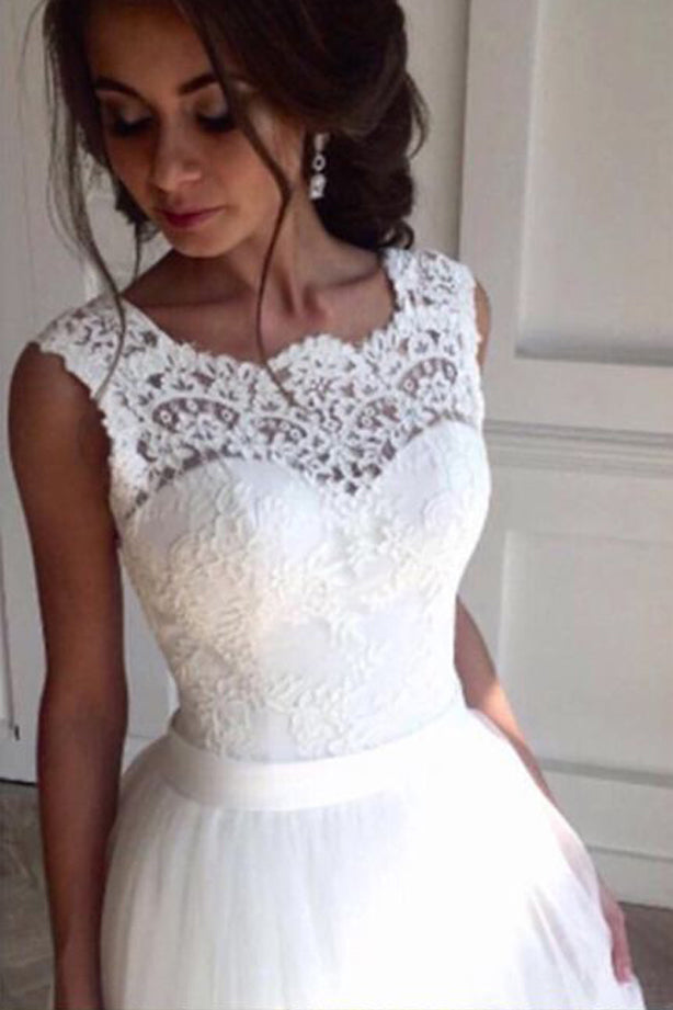 A-line Wedding Dress,High Waist Wedding Dress, ,Fashion Wedding Dresses,PD0074
