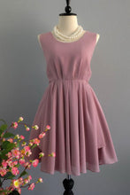A Line Backless Dusty Rose Homecoming Dresses Scoop Chiffon Short Bridesmaid Dresses uk PH829