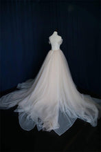 A-Line Off-the-Shoulder Tulle Sweetheart Lace up Ivory Bowknot Beach Wedding Dresses uk PH183