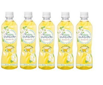 JAPANESE JASMINE TEA BOTTLE 500ml x 5 bottles ジャスミン茶 ペットボトル