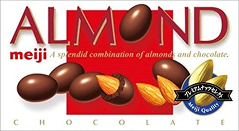 Meiji Japan Almond Chocolate 88g - Chocolate Covered Almonds