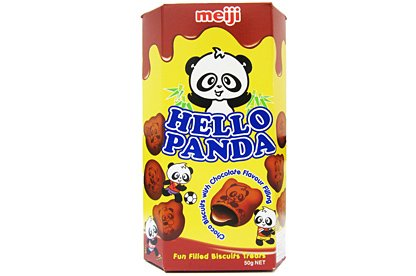 Meiji - Hello Panda Chocolate Biscuits with Chocolate Flavour Filling 50g