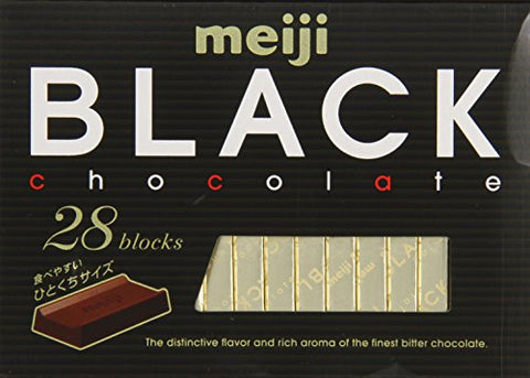 Meiji Black Chocolate, 4.58 Ounce by Meiji