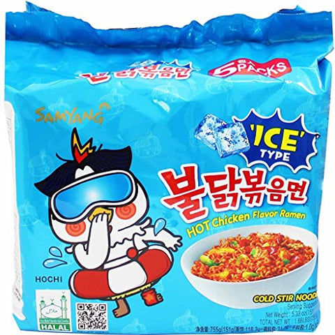 Samyang Hot Chicken Flavour Ramen - Cold Stir Noodle 151g (Pack of 5)