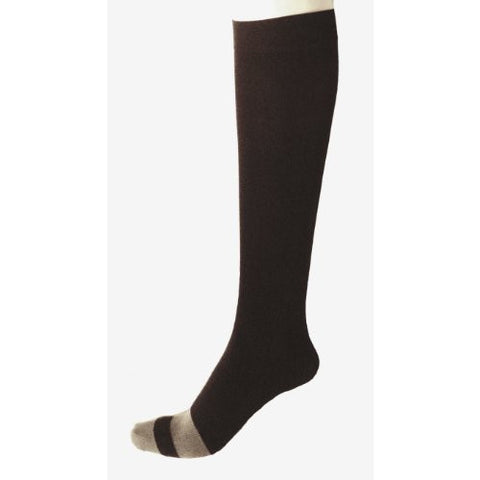 Bamboo Silk Antimicrobial Flight Compression Socks -Black; 160D
