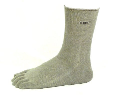Ankle-High Microbial GRAY Bamboo Toe Socks