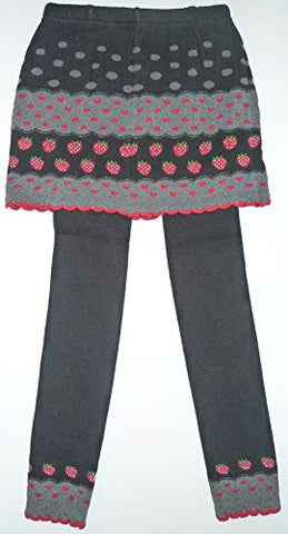Lace Poet Kid Grey/Black Polka Dots Strawberry Mini Skirt Tights