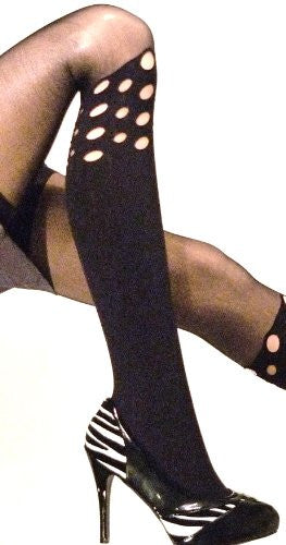 Lace Poet Black Holey Tights