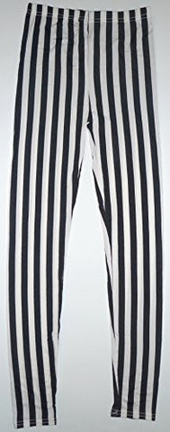 Lace Poet French Black/White Stripes Fashion Legging