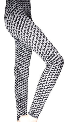 Lace Poet Gray/Black Houndstooth Leggings