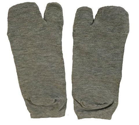 Tabi Socks- Comfortable Soft Gray Ankle-High Toe Socks