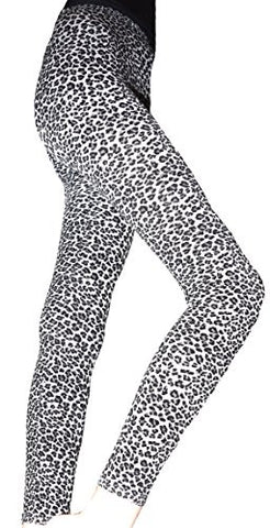 Lace Poet Beautiful Gray Leopard Animal Print Leggings/Tights