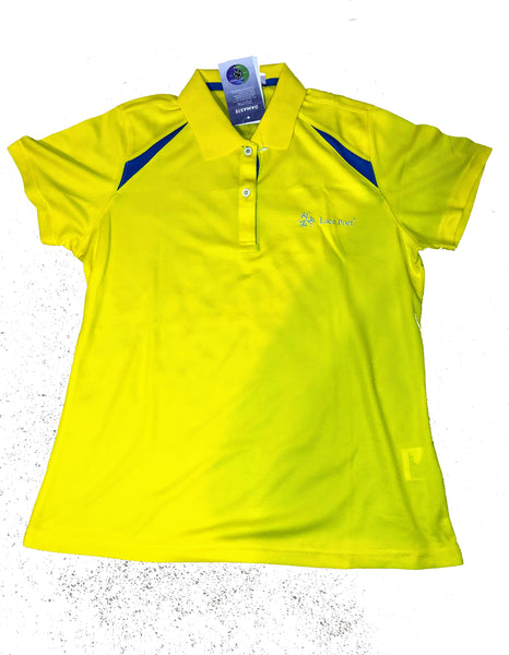 Lace Poet Women Golf Polo Shirt - Vibrant Yellow