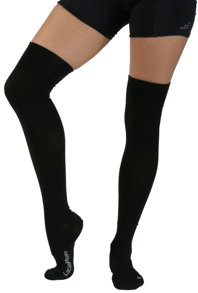 Lace Poet Surgical Over the Knee Compression Socks - BLACK Thermal Antimicrobial