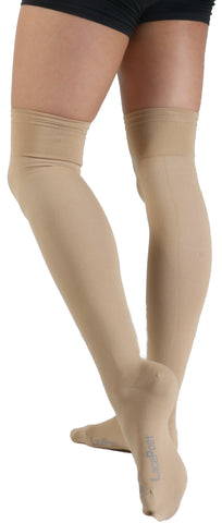 Lace Poet Surgical Over the Knee Compression Socks - TAN Thermal Antimicrobial