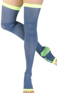Thigh High Compression Toeless - Mystic Blue