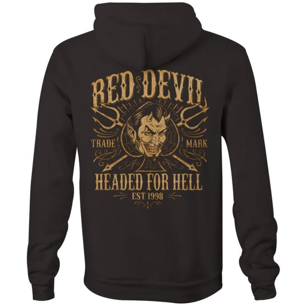 Red Devil Clothing Headed for Hell Hoodie Tattoo Classic Car