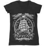 nautical shirt dark sea pirate ship voyager eagles of water