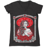 Charra Muerta - V-Neck Ladies' T-Shirt
