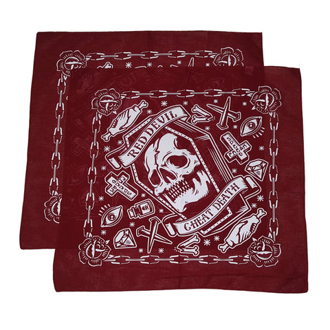 Cheat Death Burgundy Bandanna