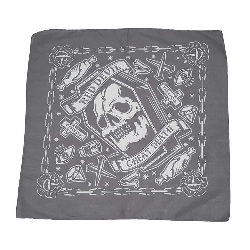 Cheat Death Grey Bandanna