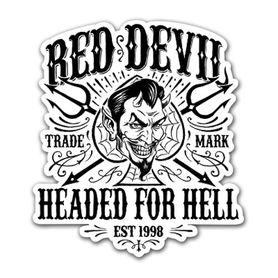 Headed For Hell Sticker