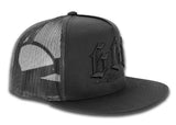 666 Trucker Cap - Black On Black