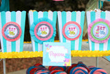 WONDERLAND Birthday Party- Alice- FAVOR BAG TOPPERS- MAD HATTER Party