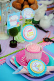 WONDERLAND Birthday Party - MAD HATTER Party - Alice FOOD LABELS