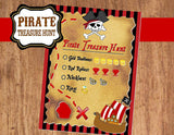 Pirate Birthday Party - Pirate INVITATION - Red Pirate Party- Pirate Party