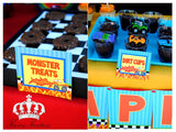 MONSTER TRUCK Party - Monster Truck CANDY LABELS - Monster Jam - Truck Party- Racing Party