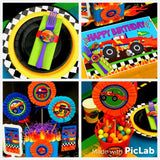 MONSTER Truck - Monster Truck TOPPERS - Truck Party