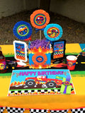 MONSTER TRUCK Party - Monster Truck Centerpieces - Monster Jam Party - Race Car Party - Truck Party