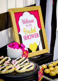 BRIDAL SHOWER- Pink and Gold Shower- CUPCAKE TOPPERS