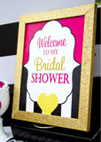 Bridal Shower GIFTS BANNER - Pink and Gold Shower