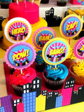 SUPERHERO Party- COMIC BOOK Party- SuperGIRL Birthday- Superhero POP BOTTLE