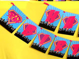 SUPERHERO Party- COMIC BOOK Party- SuperGIRL Birthday- Superhero CANDY LABELS