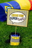 SUPERHERO Party- COMIC Hero Party- Superhero Birthday- NAPKIN RINGS