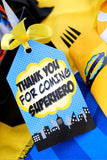 COMIC Party- Superhero Birthday - Superhero Party- FAVOR BOX LABELS- Superhero Birthday Party