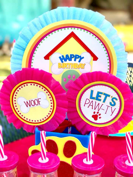 PUPPY PARTY - Dog Adoption Party - Puppy Birthday - Dog PUNCH LABELS -Dog Party