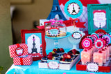 PARIS Party- AMERICAN in PARIS- Girl Party- Baking Party- Gracie- Doll Party- Cupcake- Baking- Poodle- FAVOR BOX LABELS