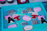 PARIS Party- AMERICAN in PARIS- Girl Party- Baking Party- Grace- Doll Party - Poodle- BAKING LABELS