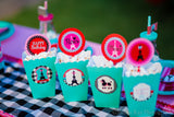 PARIS Party- AMERICAN in PARIS- Girl Party- Baking Party- Gracie- Doll Party- Cupcake- Baking- Poodle- PARTY OVALS